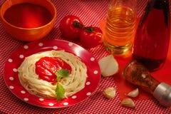 Läcker italiensk mat Arkivbilder