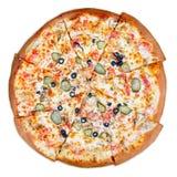 Läcker italiensk pizza royaltyfria bilder