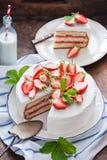 läcker jordgubbe för cake Fotografering för Bildbyråer