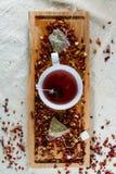 Läcker koffein-fri avkok av torkat - frukt, a royaltyfri foto