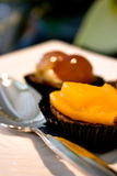 läcker mango för cake Royaltyfri Foto