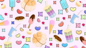 Läcker modell av sötsaker royaltyfri illustrationer