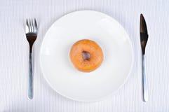 Läcker och ny munk för frukost arkivfoton