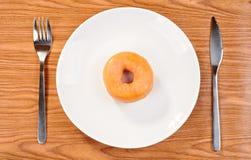Läcker och ny munk för frukost arkivbilder