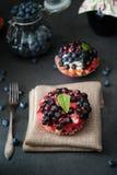 Läcker och söt blåbärkaka Royaltyfri Fotografi