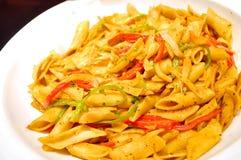 Läcker pasta Royaltyfria Bilder