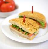 läcker skinksmörgås Royaltyfri Bild