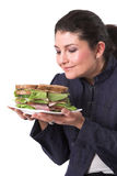 läcker smörgås arkivbild