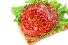 Läcker smörgås Arkivfoton