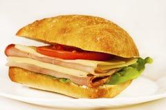 läcker smörgås för ciabatta Arkivfoton