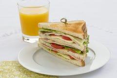 läcker smörgås för klubba Royaltyfri Bild