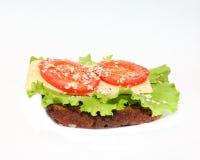 Läcker smörgås med ost Royaltyfria Foton