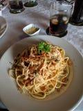 Läcker spagetti royaltyfri foto