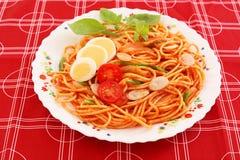 läcker spagetti Fotografering för Bildbyråer