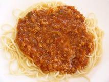 läcker spagetti Arkivfoto