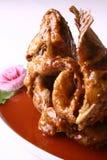 läcker stekt fiskmat för porslin Arkivbild