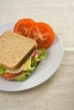 läcker sund smörgås Fotografering för Bildbyråer