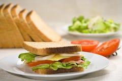 läcker sund smörgås Arkivfoton