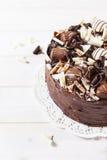 Läcker trefaldig chokladkaka Fotografering för Bildbyråer