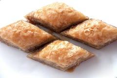 Läcker turkisk sötsak: Baklava Royaltyfri Fotografi