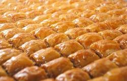 Läcker turkisk sötsak: Baklava Arkivfoton