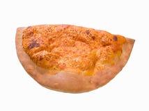 läcker varm isolerad pizza för calzone Arkivfoto