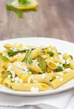 Läcker vegetarisk pasta Arkivfoto