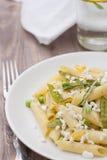 Läcker vegetarisk pasta Arkivbild