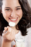 Läcker yoghurt royaltyfri bild