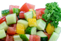 Läckert banta den vegetariska salladmakroen Arkivfoto