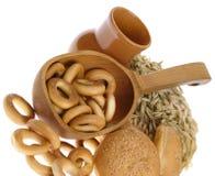 Läckert bröd och brödcirklar Arkivfoto