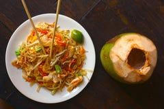 Läckert gudomligt thai block som är thai med havs- limefrukt och den japanska pinnen Royaltyfria Foton