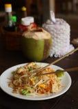 Läckert gudomligt thai block som är thai med havs- limefrukt och den japanska pinnen Arkivbilder