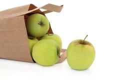 läckert guld- för äpplen royaltyfria bilder