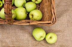 läckert guld- för äpplen Arkivfoton