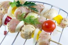 Läckert kött: fegt galler Arkivbilder