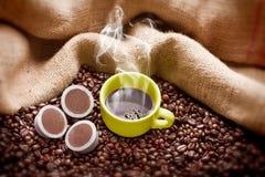 läckert kaffe Arkivbilder