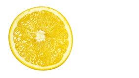 läckert och saftigt orange mycket av vitaminer och antioxidants, isolerat på vit bakgrund, kopierar utrymme, mall Arkivfoton