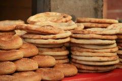 """Läckert Uyghur bröd """"Nang"""", Royaltyfria Bilder"""
