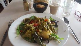 L?ckert vegetariskt m?l som tj?nas som med ris p? linser som n?got, NSW, Australien royaltyfria foton