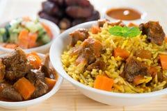 Läckra arabiska ris Arkivbild