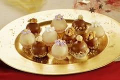 läckra choklader royaltyfria foton