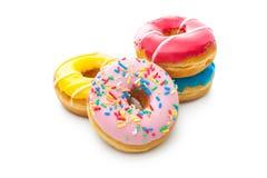 Läckra donuts med stänk Royaltyfria Bilder