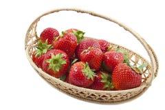 läckra jordgubbar Arkivbild