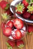 Läckra jordgubbar Arkivfoto