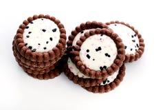 Läckra kakor på tabellen Fotografering för Bildbyråer