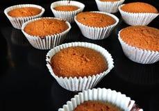 Läckra muffin med olika snitt av saftig frukt Royaltyfri Foto