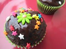 Läckra och beautifully dekorerade muffin royaltyfri foto