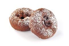 Läckra och nya donuts för frukost fotografering för bildbyråer