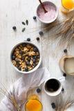 Läckra och sunda sädesslag för frukost Fotografering för Bildbyråer